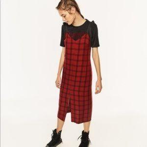 Zara Long Check Dress